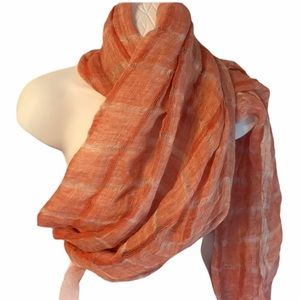 Altea Shawl 100% linen, made in Italy, orange, New